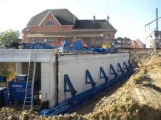 Fietstunnel onder spoor in Willebroek