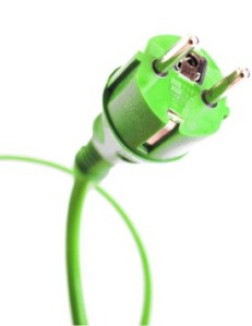 Groene stroom in groep