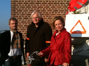 sp.a Kalmthout voert actie voor veilig verkeer aan de kerk van Nieuwmoer