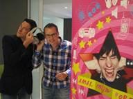 Radiostem Kevin Major en reporter Wouter Bruyns zijn grote voorstanders van oordopjes