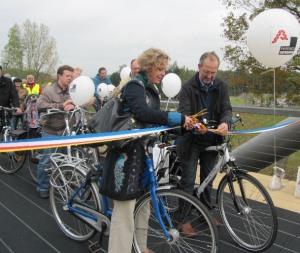 Inga opent fietsbrug in Turnhout