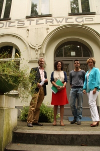Fons Dierckx, Yasmine Kherbache, Sam Dudha en Inga aan de Diesterweg