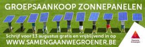 Groepsaankoop zonnepanelen