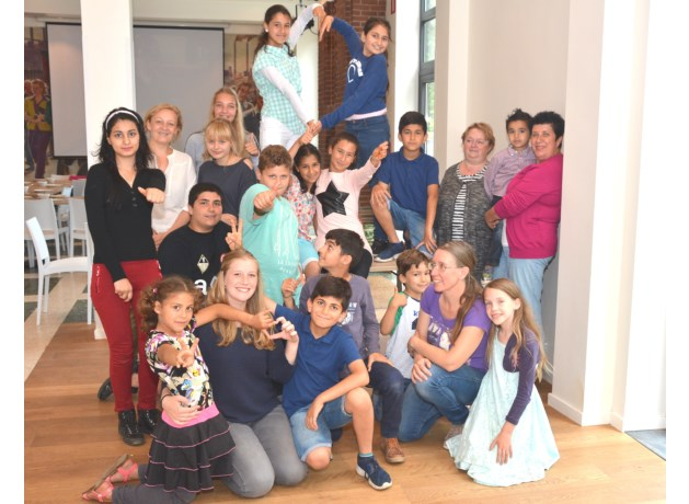 Juf Sarah en de kinderen